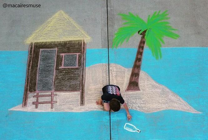 Cậu bé 14 tuổi vẽ tranh 'du lịch vòng quanh thế giới' cho em trai - ảnh 12