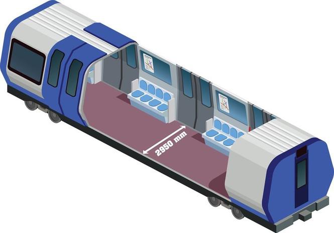 Cận cảnh đoàn tàu metro Bến Thành – Suối Tiên sắp cập cảng TP.HCM - ảnh 3