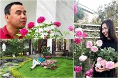 Mãn nhãn biệt thự phủ kín hoa hồng đẹp như cổ tích của sao Việt