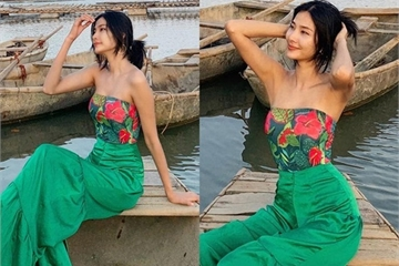 Mỹ nhân Việt ăn mặc nóng bỏng du lịch hè khiến fan 'nhức mắt'
