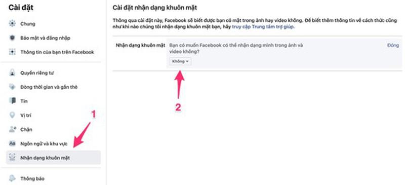 Huong dan tat tinh nang nhan dang khuon mat cua Facebook-Hinh-2