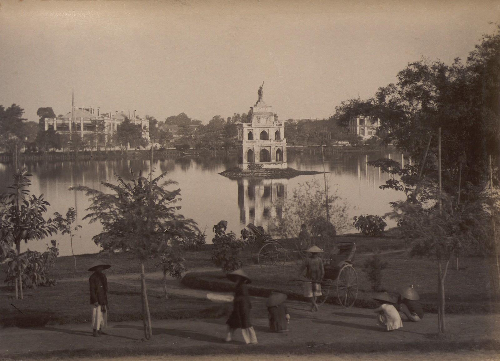 Anh cuc hiem ve ho Hoan Kiem thap nien 1890-Hinh-5