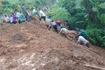 Mưa lớn ở Lai Châu, 1 người mất tích, 1 người bị thương