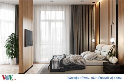 Thiết kế đẹp mắt của căn hộ có 2 phòng ngủ