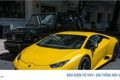 Lamborghini Huracan màu vàng nổi bật trên phố ngày cuối tuần