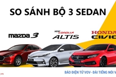 Với 900 triệu: Chọn Mazda 3, Toyota Corolla Altis hay Honda Civic?