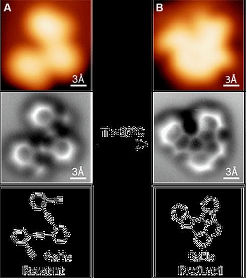 Lần đầu tiên chụp được ảnh phân tử trong phản ứng hóa học - ảnh 1