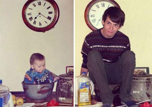 Rưng rưng cười với những bức ảnh gia đình hiện tại và quá khứ - ảnh 2