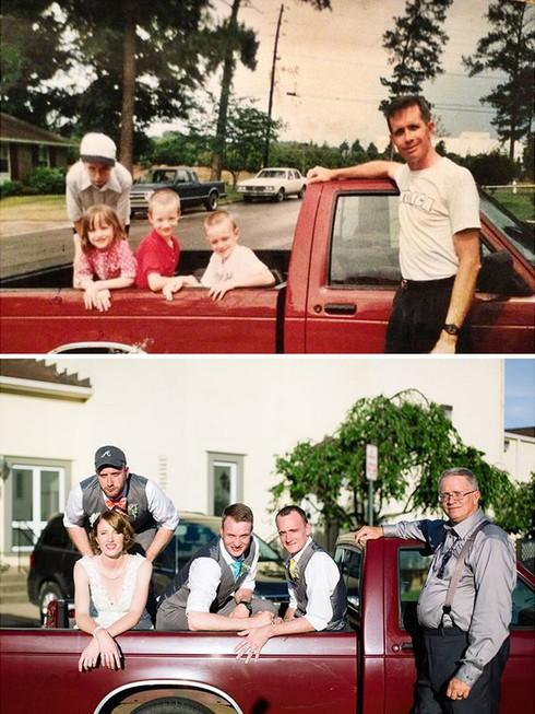 Rưng rưng cười với những bức ảnh gia đình hiện tại và quá khứ - ảnh 9