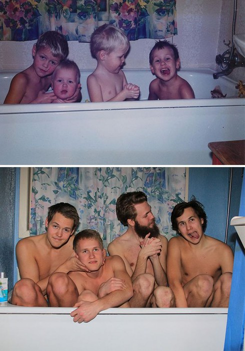 Rưng rưng cười với những bức ảnh gia đình hiện tại và quá khứ - ảnh 25