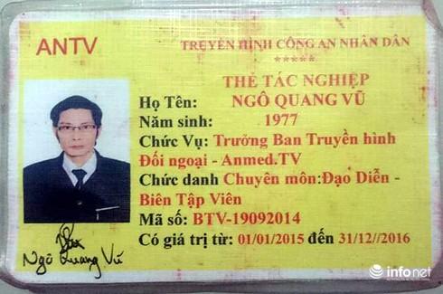 Thẻ Truyền hình ANTV bị kẻ tàng trữ ma túy làm giả - ảnh 2