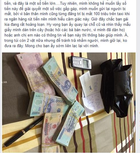 Một Facebooker đăng tin khẩn tìm người rơi 175 triệu đồng để trả lại - ảnh 2