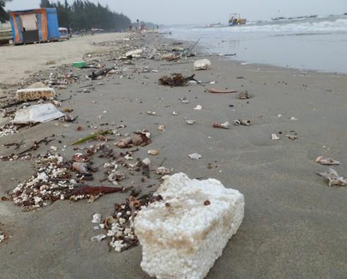 Nghỉ lễ, phát hoảng với rác thải ngập tràn bãi biển Trà Cổ - ảnh 12