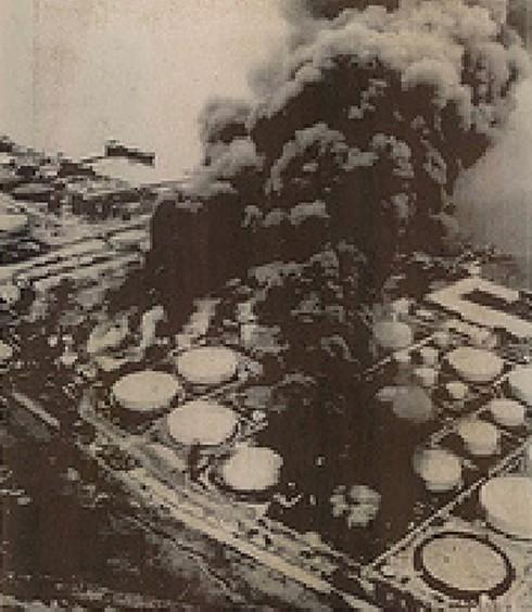 Kho xăng nhà Bè bị đốt cháy năm 1968