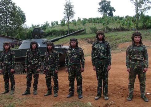 Hình ảnh xe thiết giáp, pháo binh, không quân Lào - ảnh 7
