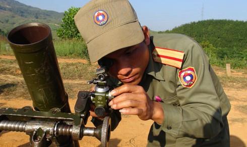 Hình ảnh xe thiết giáp, pháo binh, không quân Lào - ảnh 1
