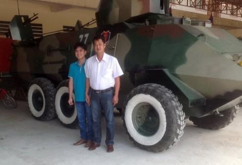 2 nông dân Việt Nam chế xe bọc thép cho quân đội Campuchia - ảnh 3