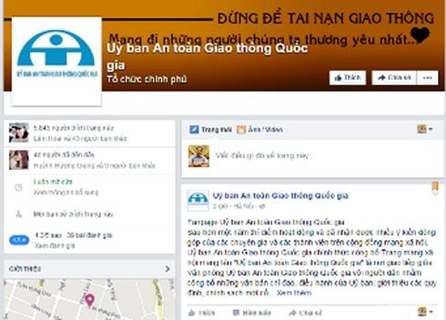 Ủy ban ATGT Quốc gia lập trang Facebook tiếp nhận ý kiến người dân - ảnh 1