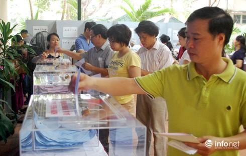 Gần 99% cử tri đi bầu cử Quốc hội khóa 14 - ảnh 1
