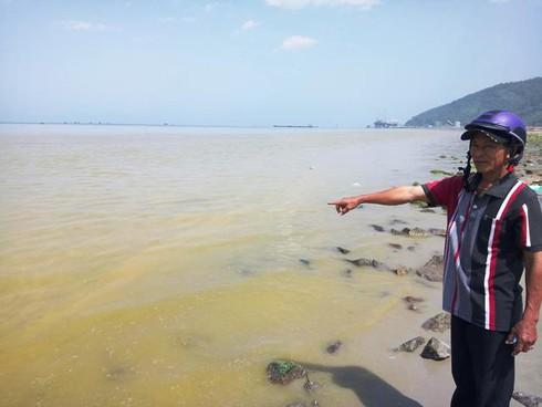 Huế: Dải nước biển màu vàng lớn xuất hiện gần cảng Chân Mây - ảnh 1