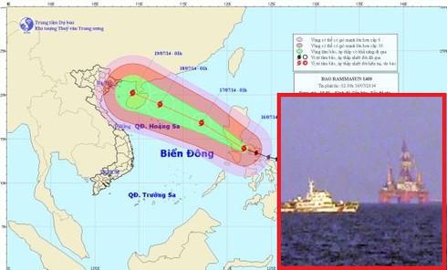 Hoàng Sa ảnh hưởng bão Rammasun, TQ di chuyển giàn khoan 981 - ảnh 1