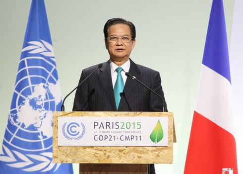 Thủ tướng phát biểu tại COP 21 - ảnh 1