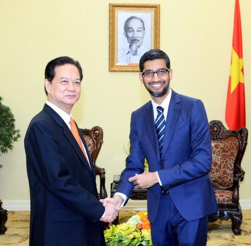 Thủ tướng tiếp Tổng Giám đốc điều hành Tập đoàn Google - ảnh 1