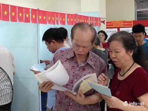 Cử tri nô nức đi bầu cử ĐBQH khóa 14 và đại biểu HĐND các cấp - ảnh 3