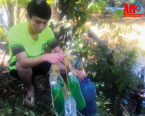 Bắt cá bằng… chai nhựa - ảnh 1