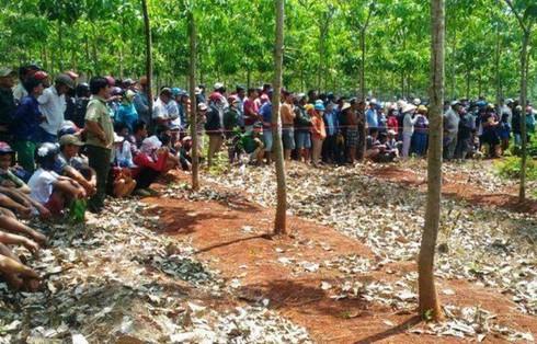 Nam thanh niên chết trong rừng cao su, cơ thể có nhiều vết đâm - ảnh 1