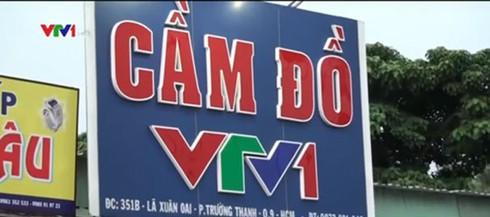 Nhãn hiệu VTV bị gán trên tiệm cầm đồ, xe ô tô cá nhân - ảnh 1