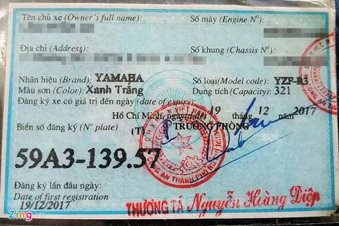 Phân biệt các loại giấy đăng ký xe khi mua môtô đã qua sử dụng