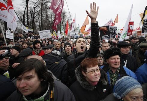 Biểu tình ở Nga: `Chúng tôi không phải là những con cừu`