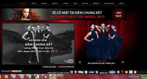 Web của Next Top Model vẫn kêu gọi bình chọn 3 thí sinh?