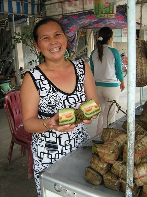 Bánh tét Trà Cuôn: Đặc sản của đất Trà Vinh