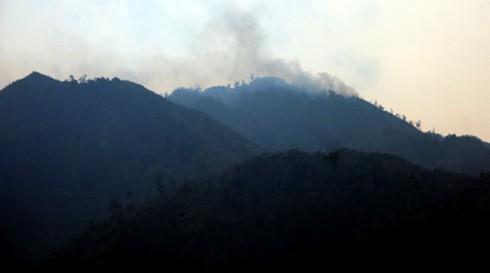 Rừng Quốc gia Hoàng Liên vẫn cháy âm ỉ