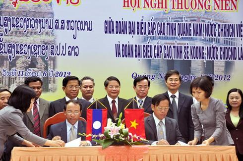 Xây dựng 48/60 cột mốc biên giới giữa Quảng Nam và Sê Koong (Lào)