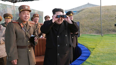 Kim Jong-un chỉ đạo tập trận chống Mỹ - Hàn - ảnh 1