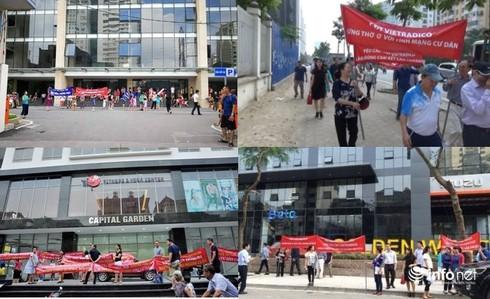 Hà Nội: Bùng nổ hiện tượng cư dân căng băng rôn