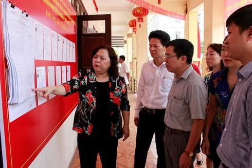 Hà Nội kiểm tra công tác chuẩn bị bầu cử tại quận Hà Đông - ảnh 1