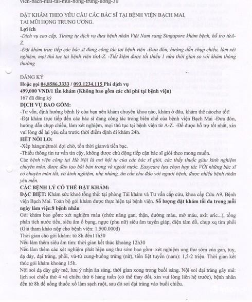 BV Bạch Mai: Cấm nhân viên tham gia các đường dây khám dịch vụ ngoài bệnh viện - ảnh 1