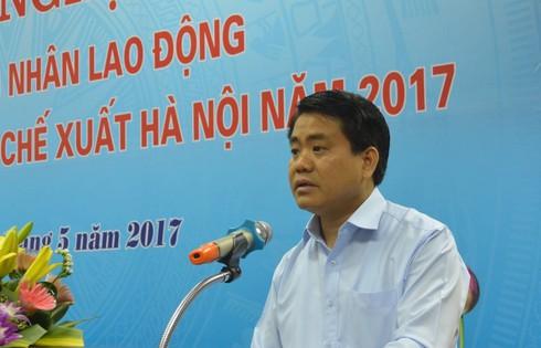 Chủ tịch Hà Nội: Tổng LĐLĐ dành 700-800 tỉ đồng cùng TP xây nhà ở cho công nhân - ảnh 1
