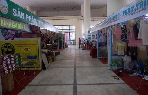 Hội chợ giữa trung tâm Hà Nội vắng khách hơn chợ quê - ảnh 1