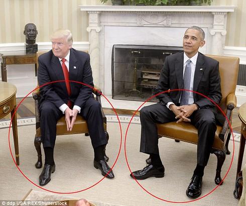 Chuyên gia ngôn ngữ cơ thể: Ông Trump lo lắng khi gặp ông Obama ở Nhà Trắng - ảnh 1