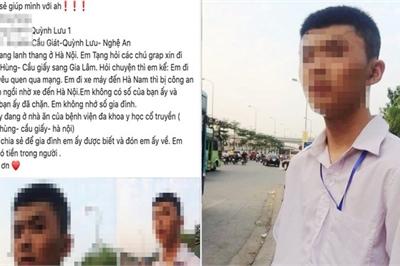 """Thực hư thông tin nam sinh Nghệ An đi xe máy 200km ra Hà Nội để... tìm """"bạn gái"""""""