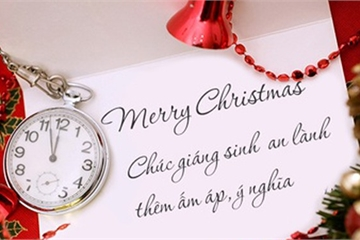 Lời chúc Giáng sinh tiếng Anh ngắn gọn hay nhất