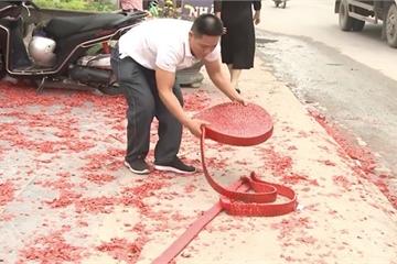 Chủ tịch Hà Nội yêu cầu xử lý nghiêm vụ đốt pháo trong đám cưới ở Sóc Sơn