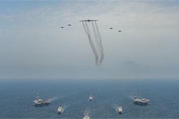 """Hình ảnh về cuộc tập trận """"khủng"""" của Mỹ ở Trung Đông nhằm răn đe Iran"""