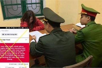 Công an triệu tập cô gái tung tin phun thuốc ngừa dịch Corona trên toàn quốc