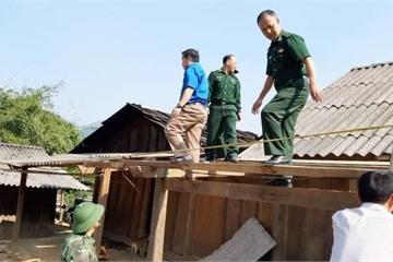 Nghệ An: Lốc xoáy bất ngờ xuất hiện gây thiệt hại về nhà cửa, hoa màu